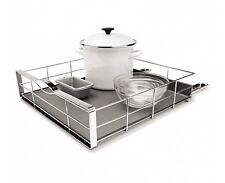 simplehuman 20 inch stainless steel pull-out cabinet organizer
