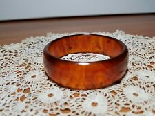 Vintage Rootbeer Bakelite Bangle Bracelet, 20mm wide