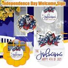 Happy 4Th of July Wreaths Wooden Independence Day Door Sign Patriotic Hanging Do