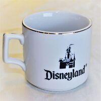Vintage Walt Disney World Coffee Mug Cup Gold Trim Castle White Ceramic Japan