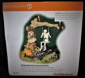 Dept 56 - Snow Village Halloween - Village Animated Swinging Skeleton 56.52514