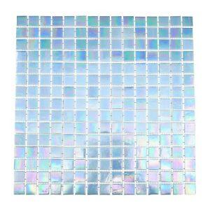 Light Blue Iridescent Mosaic Glass Tile Kitchen & Bath