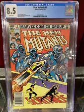 New Mutants #2 CGC 8.5, Rare NEWSSTAND, Marvel Comics, 1983