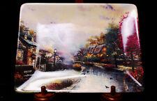 Lamplight Brooke By Thomas Kinkade Bradofrd Exchange Art Plate