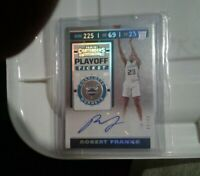 2019-20 PANINI CONTENDERS ROBERT FRANKS RC SILVER PLAYOFF TICKET AUTO  SP 49/99