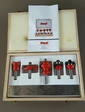 Freud 95-100 5pc. Cabinet and Molding Router Bit Set in wood box