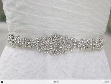 Ava - Rhinestone Crystal Diamante Bridal Sash Wedding Dress Belt
