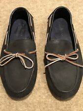 Men's COLE HAAN SUEDE BLACK SHOES WithTan detail UK 9 Great Condition!