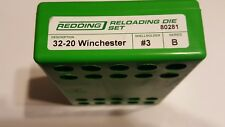 80281 REDDING 3-DIE FULL LENGTH DIE SET - 32-20 WINCHESTER - NEW - FREE SHIP