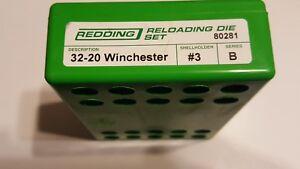 80281 REDDING 3-DIE FULL LENGTH DIE SET - 32-20 WINCHESTER - NEW - FREE SHIP