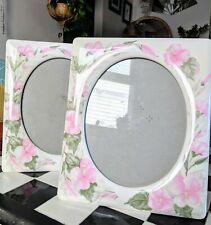 Vintage Floral Porcelain Photo Frames Picture Frames Boho Romantic Shabby