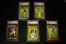 Lot (5) Diff PSA 9 Nolan Ryan OPC Baseball Cards Full Set Hi$BV Mets Angels