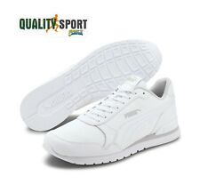Puma ST Runner Leather Bianco Scarpe Shoes Uomo Sportive Sneakers 365277 16