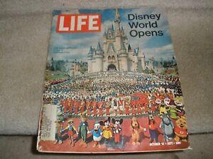 VINTAGE LIFE MAGAZINE OCTOBER 15 1971 DISNEY WORLD OPENS