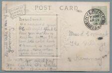 1910 Postcard sent to Miss Sarah Cormack, The Village, Kemnay