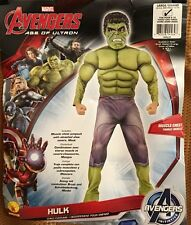 Hulk Avengers deluxe muscle chest costume by Rubies boys size large 12-14 NWT