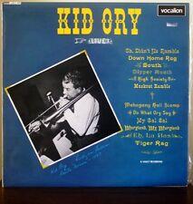 Kid Ory Live mono vinyl record album Jazz