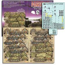 Echelon FD ATX351020, 1/35 autocollants pour Gd, 18. pzabt, 11.PD & DAS REICH Panzer IV