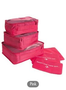 6 Piece Luggage Packing Cubes & Laundry Pouches For Travel and Storage