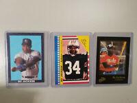 Bo Jackson 3 card Baseball Set, #BC06
