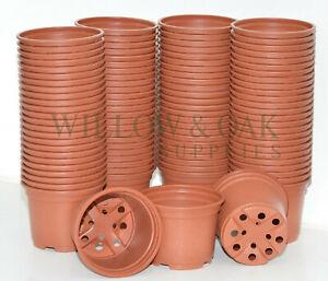 """9cm (3.5"""") Plastic terracotta plant pots, seeds, seedlings, flower"""