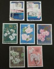 JAPAN USED 2012 US CHERRY BLOSSOM CENT. 7 VALUE VF COMPLETE SET SC# 3413 a - g