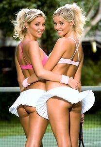 5 x Sexy Tennis girls A4 assorted photos