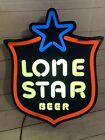 Vintage LONE STAR BEER Lighted SIGN, 1982 Visual Marketing, Rare HTF
