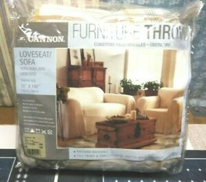 """NEW CANNON SOFA LOVESEAT FURNITURE THROW HARVEST STRIPES Polyester 70""""D x 140"""" W"""