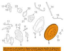 PORSCHE OEM 14-15 Cayman Front Brake-Disc Rotor 98135140101
