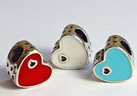925 Sterling Silver PANDORA Sweet Love Heart Charm