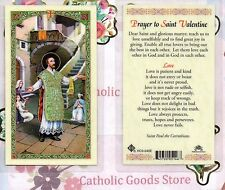 st saint valentine prayer to saint valentine laminated holy card - Saint Valentine Prayer