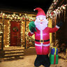 6FT Christmas Santa Claus Inflatable Air Blown LED Light Yard Outdoor Decoration