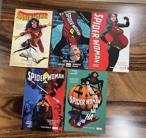 Spider-Woman By Hopeless Complete TPB Set, Vol 1,2,1,2,3, OOP HTF, NM