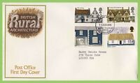 G.B. 1970 Rural Archiecture set on Post Office First Day Cover, Bureau