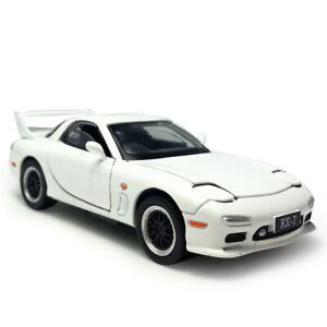 1:32 Mazda RX-7 Model Car Alloy Diecast Gift Toy Vehicle Kids Sound Light White