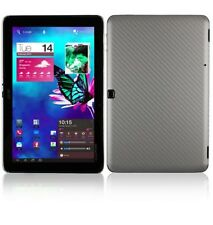 Skinomi Carbon Fiber Silver Skin+Clear Screen Protector for Acer Iconia Tab A700
