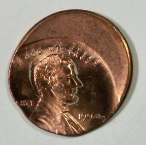 1995 Lincoln Cent 1c – Mint Error – 30% Off Center at K-8