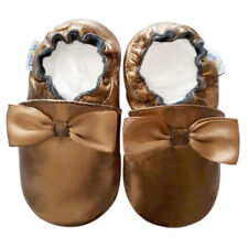 Littleoneshoes(Jinwood) Soft Sole Leather Baby infant Party Gold Shoes 0-6month