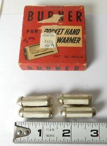NOS VINTAGE 4 POCKET HAND WARMER BURNERS JON-E