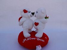 New 10� Talking Snow white Color Teddy Bear Plush Stuffed Animal
