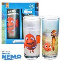 New Disney Finding Nemo Set Of 2 Glasses Tumblers Pixar Official Licensed