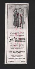 ST. ALBANS, Anzeige 1913, Nicholson's Raincoat Co. Ltd