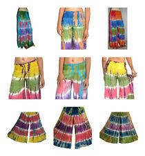 Paquete De 2 Hippie Festival Tie Dye Flare Pantalones De Pierna Ancha Pantalones tribal boho