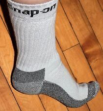 6 Pairs Mens GRAY Snap On Crew Socks L ~ FREE Shipping ~ MADE IN USA     New!