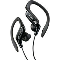 JVC HAEB75B Sports Clip Headphones with Adjustable Clip, Noise-Reduction Cord