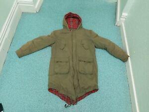 Merc Small Mens Green Tobias Fishtail Tartan Lined Jacket