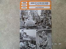 CARTE FICHE CINEMA 1946 ANNA ET LE ROI SIAM Irene Dunne Rex Harrison