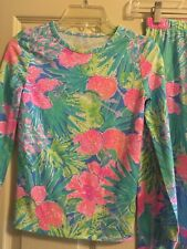 Lilly Pulitzer Girls Sammy Pajamas Multi Swizzle Size 10