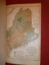 34 ENTOMOLOGICAL PLATES  -  1890 Lot  -  MAINE Map  -  Insects Trees